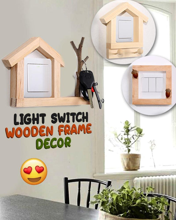 Light Switch Wooden Frame Decor