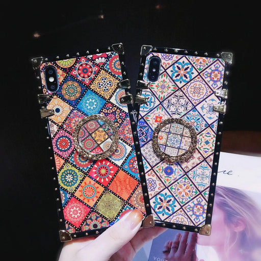 Luxury ethnic style retro flower pattern case  for Huawei P30/P20/Mate20/Pro