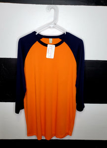 Orange Body / Navy Sleeve