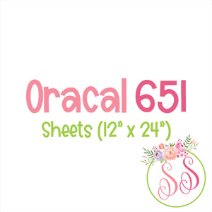 "Oracal 651 Adhesive - 12"" x 24"" Sheet"