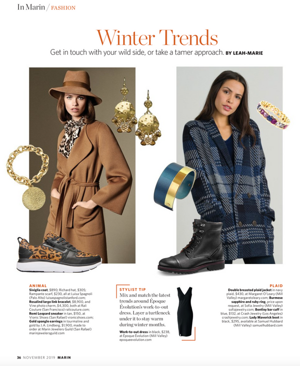 Marin Magazine November 2019 Winter Trends