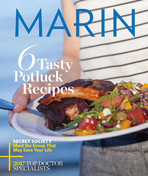 Marin Magazine - July 2017 cover