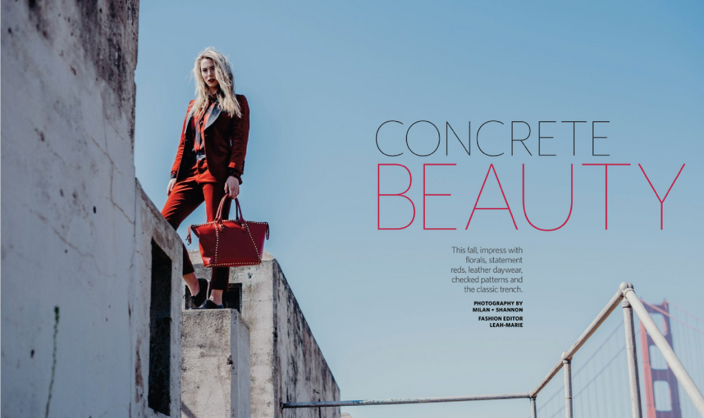 Concrete Beauty - Marin Magazine article cover