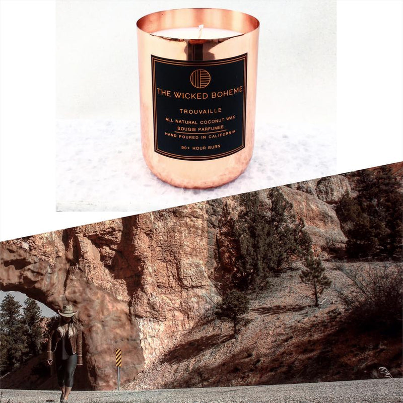12oz Copper Coconut Wax Candle - Midnight