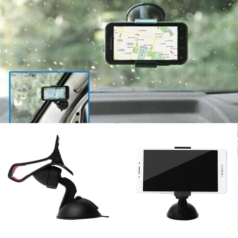 1 Pcs Universal Car Mobile Phone Holder Stand Mount Windshield 360 degree rotation for Mobile iphone5 6PLUS 7 Samsung GPS
