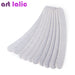 10 x Grey Nail Files Sanding 100/180 Curve Banana for Nail Art Tips Manicure Pedicure
