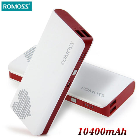 10400mAh ROMOSS Pover Sense 4 Portable Charger External Battery Pack Power Bank Fast Charging For iPhone Samsung Android Tablet