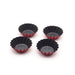 12 Pack Vibrant Round Reusable and Nonstick  Cupcake and Muffin Baking Cup, Red