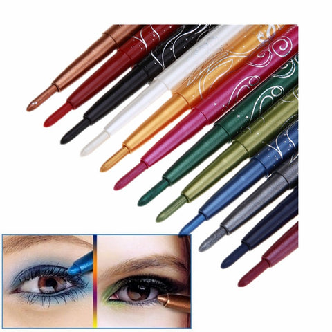 12 Sexy Colors Eyes Makeup Long Lasting Waterproof Glitter Eyeshadow Eye Shadow Pen Eyebrow Lip Pencil Sets Cosmetic Beauty Kits