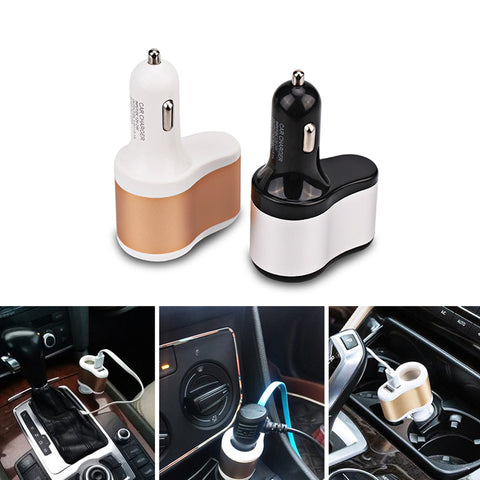 12V 24V Universal Dual USB Car Charger Adapter Cigarette Lighter Adapter USB 3.1a Car Charger Dual Socket For Mobile Phone Auto