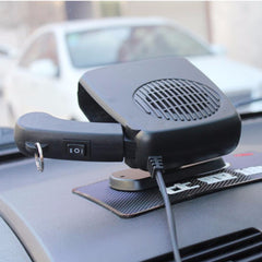 12V Car Heater Fan Auto Vehicle Portable Electric Heating Fan Defroster Windshield DemisterWarm Air Conditioner Black Blue