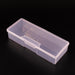 1PC Plastic Nail Supplies Tools Storage Box Rectangle Nail Art Studs Brushes Tools Holder Case Pink/White Transparent