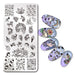 1Pc Rectangle Stamping Plate Unicorn Bear Flower Star Moon Origami Pattern Template Manicure Nail Art Plate