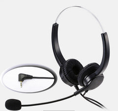 2.5mm plug Lightweight Headphone with MIC microphone call center headset anti-noise earphone for Panasonic Phones home office