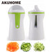 2 Knife Edge Fruit Vegetable Spiralizer Spiral Slicer Shredders Peeler Cutter Carrot Shred Grater Kitchen Gadgets Cooking Tools