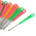 20 Pcs Red Green Yellow Plastic Grip Metal Earpick Ear Curette