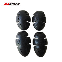 2018  MXRIDER Motorcycle Soft Armour Protector Elbow/shoulder Knee Pads Replaceble PU Pad CE Approve kneeling Black color