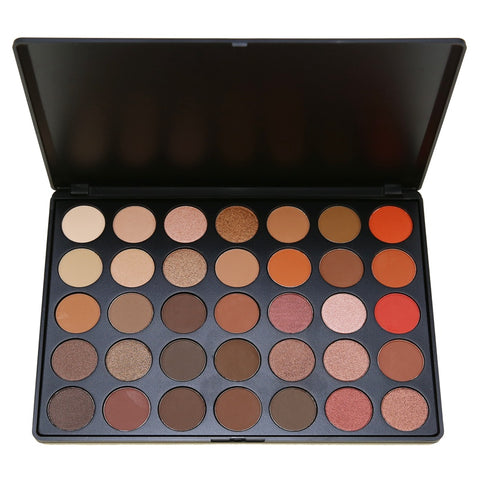 35 Color Eyeshadow Palette Silky PowderMake up Pallete Product Cosmetics Smoky/Warm Color 35O#