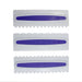 3pcs Purple Pastry Icing Comb Set Plastic Fondant SpatulasScraper Baking Decorating ToolKitchen Bakeware Tool 52127