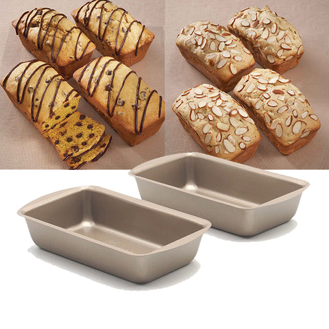 4 pieces/lot, 5inch toast bread baking pan ,non-stick small fruit cake mold, champagne gold baking mold