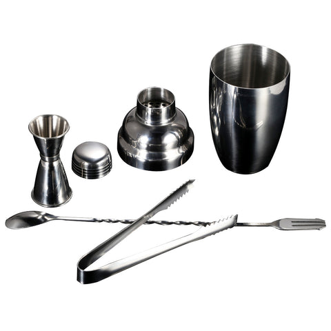 4pcs/set stainless steel cocktail set Shaker Mixer Ice Tong Jigger Wine Tool Bartending Mixer Wine Drink Shaker Bar Accessories