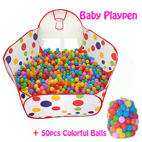 50pcs Balls+Outdoor/Indoor Baby Playpens For Children's Foldable Kids Ball Pool Activity&Gear Tent Fencing Corralito 0.9 1.2 1.5