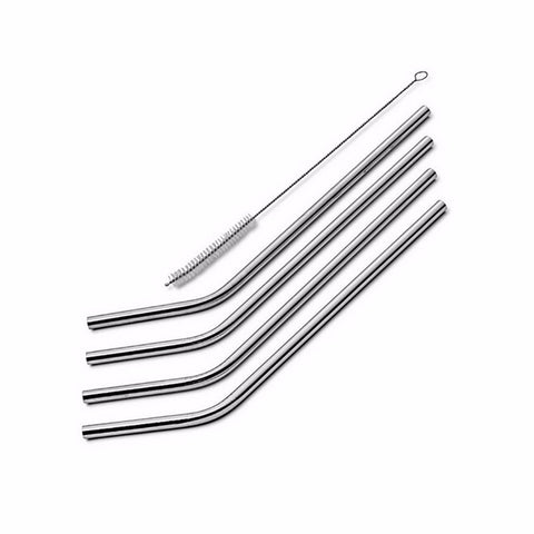 5sets 20zo/30oz straw 4pcs With 1 Cleaner Brush 304 Stainless steel Drinking Straws set for SUV Beer Mugs