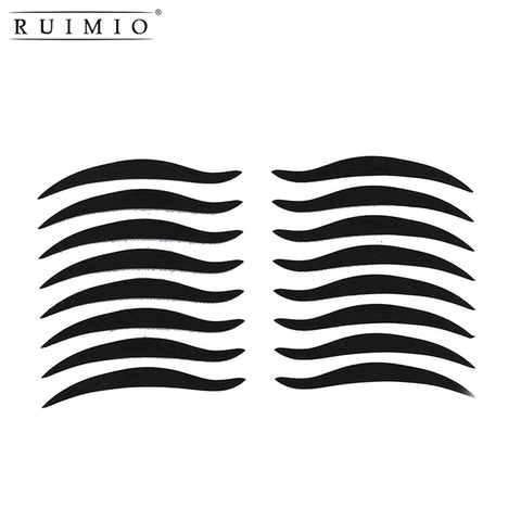 RUIMIO 80 Pairs Temporary Eye Make Up Eyeliner Sticker Eyelid Transfer Tape Eyeshadow Smoky Tattoo Eye Makeup Cosmetic