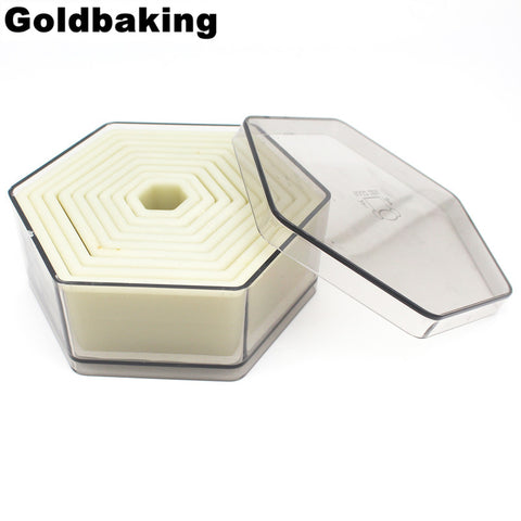 9 Piece Hexagon Shaped Biscuit Cutter Cookie Cutter Set