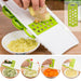 BIUBIUTUA Kitchen Tools Mandoline Slicer With Interchangeable Stainless Steel Blades Vegetable Cutter Peeler Slicer Grater