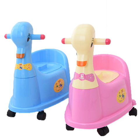 Baby Toilet Cartoon Duck  Kids Plastic Baby Toilet Seat Drawer Trainer Girls Boy Comfortable Potty With Wheels Children's Toilet