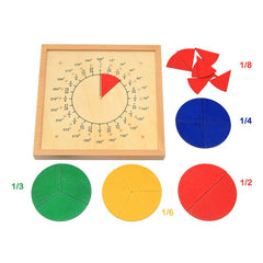 Baby Toys Circular Mathematics Fraction Division Teaching Aids Montessori Board Wooden Toys Child EducationalMath Toy