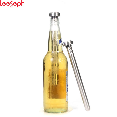 Beer Chill Sticks - 18/8 Stainless Steel Wine Chillers - Beer and Beverage Coolers, Set of 2