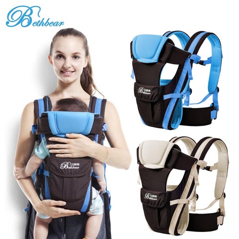 Beth Bear 0-30 Months Baby Carrier Breathable Front Facing 4 in 1 Infant Comfortable Sling Backpack Pouch Wrap Baby Kangaroo