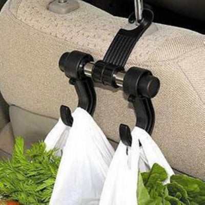 Black Automotive Car Back Seat Hooks for Grocery Shopping Auto Vehicle Hanger Flexible Car Rack Clip Car Headrest Bag Hook