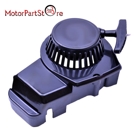 Black  Plastic Easy Pull Start Recoil Starter For 47 49cc 2 Stroke Pocket Bike Minimoto Dirt Kid Crosser Quad ATV