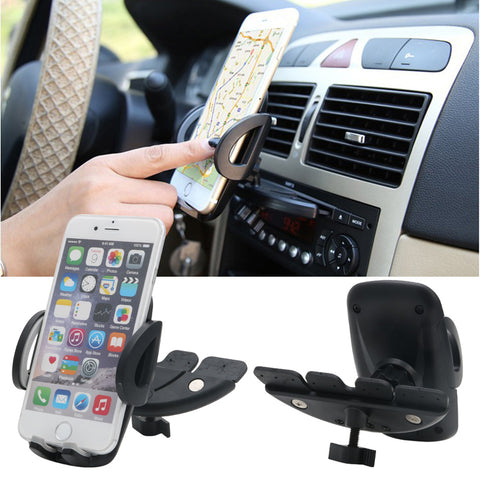 Car Auto CD Player Slot Mount Holder Cradle Stand For Mobile Smart Phone GPS