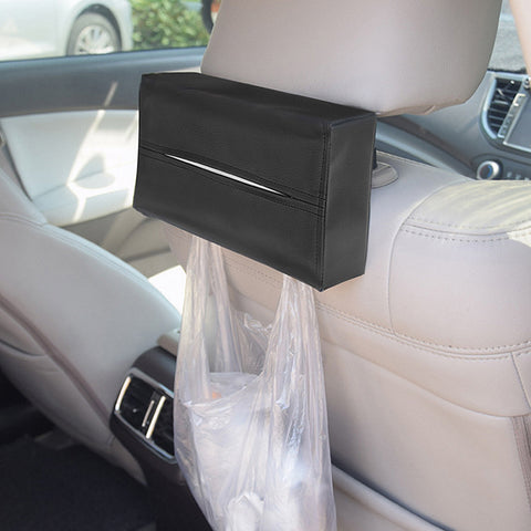 Car Tissue Box Cover Car Styling Napkins Holder Portable Leather Tissue Box Automobile Interior Accessories Container Convenient
