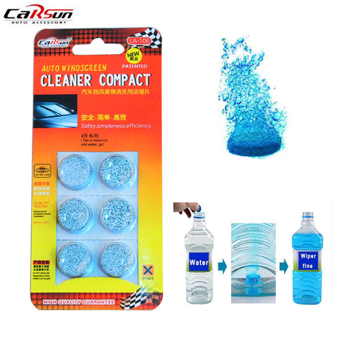 Carsun 6Pcs/Pack BrandSolid Windshield Wiper Fluid Super Concentration Auto Car Window Glass Cleaning Wiper Water