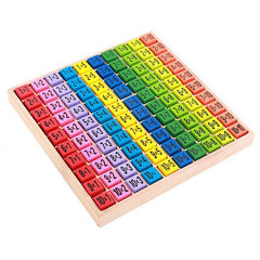 Children Wooden Toys 99 Multiplication Table Math Toy 10x10 Figure Blocks