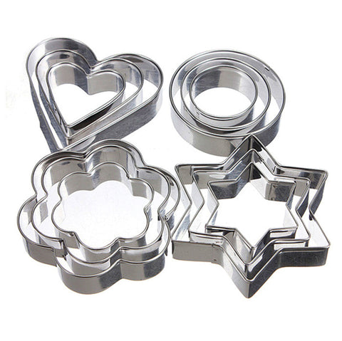 Cookie Cutter Stainless Steel Cookie Cutters Star Heart Circle Flower Shape DIY Metal Cookie Tools Biscuit Baking Pastry Molds