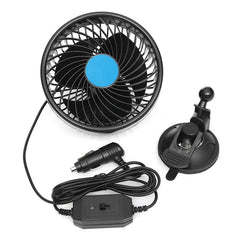 DC 12V 6 Inch Air Cooling Fan w/ Sucker Auto Car Vehicle Low Noise Truck Tent RV Sleeper Cab SUV ATV Delivery Van Camping