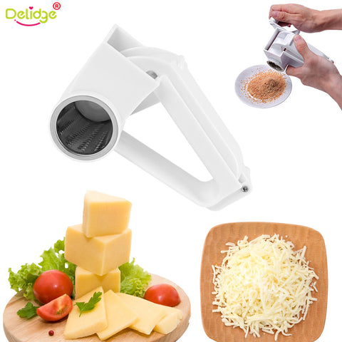 Delidge 1 pc Cheese Nuts Slicer Graters Stainless Steel Ginge Crusher Garlic Hand Press Garlic Slicer Masher Kitchen Tools