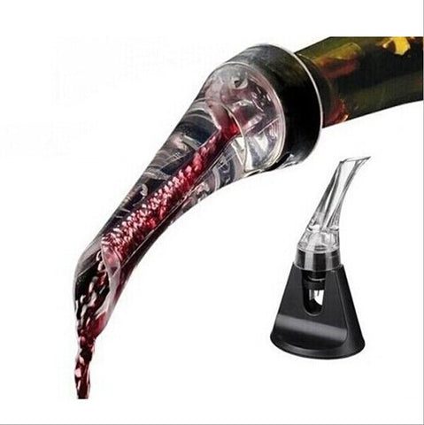 Drop Shipping/Essential Set Quick Aerating Pourer Decanter Red Wine Bottle Mini Travel Aerator