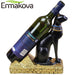 ERMAKOVA Resin Egyptian Cat Wine Rack Bestet Wine Bottle Holder Animal Egyptian Goddess Wine Stand Accessories Home Bar Decor