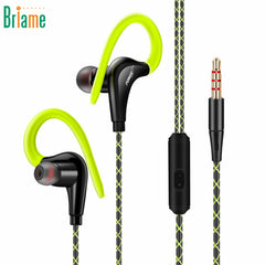 Ear Hook Earphone Outdoor Sport Headphone Music Wired Sweatproof Headset Noice Cancelling with Microphone for iPhone Samsung