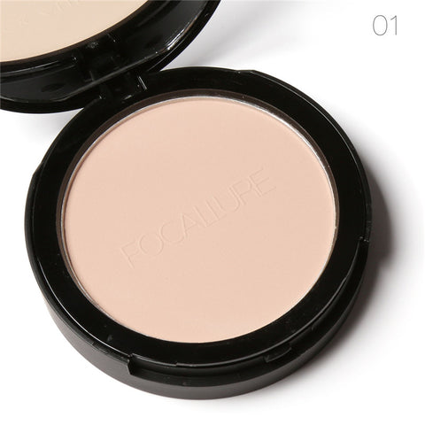 FOCALLURE 3 Colors Make Up Face Powder Bronzer Highlighter Shimmer Brighten Face Pressed Powder Palette Contour Makeup Cosmetics