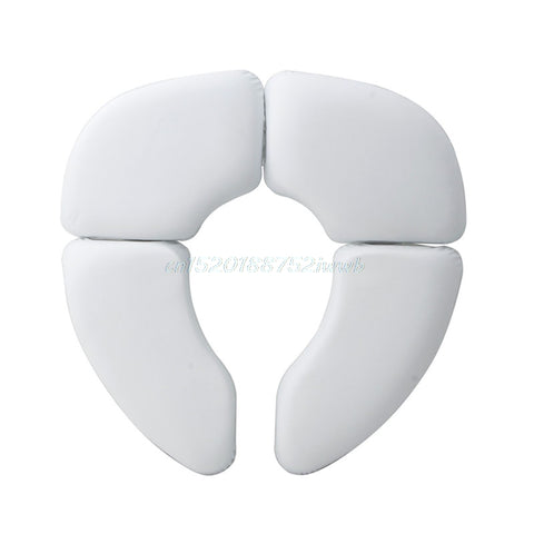 Household Baby Kids Toddler Soft Toilet Seat Cover Folding Padded Potty Cushion Toilet Seat Training  #T026#