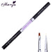 Flat Liner Dual End Nail Art Rhinestone Painting Brush Acrylic Gel Polish Coat Extension Builder 3D DIY French Image Drawing Pen