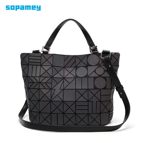 Foucpoom Women Handbag Luminous Bao Bag Geometric Fold Bucket Shoulder Bags Luxury Handbags Women Bags Designer Bao bag bolsa